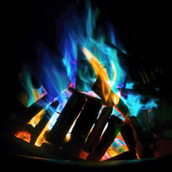 Turn On Some Colored Fire on Valentines Day