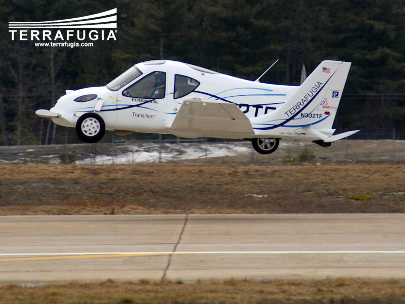 Terrafugias Transition Aircraft Changes to a Car as it Lands