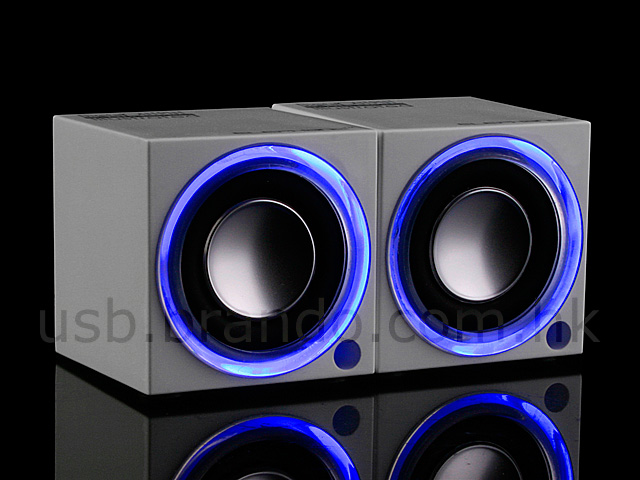 The speakers power via the computer's USB interface and feature 6Ohm