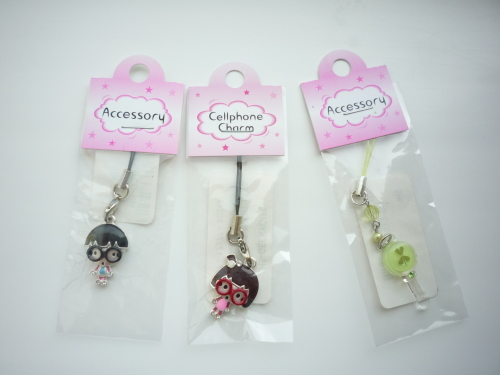 Cute Charms Giveaway! (3) cool cellphone charms