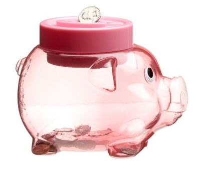 Pink Electronic Piggy Bank Counts Your Coins