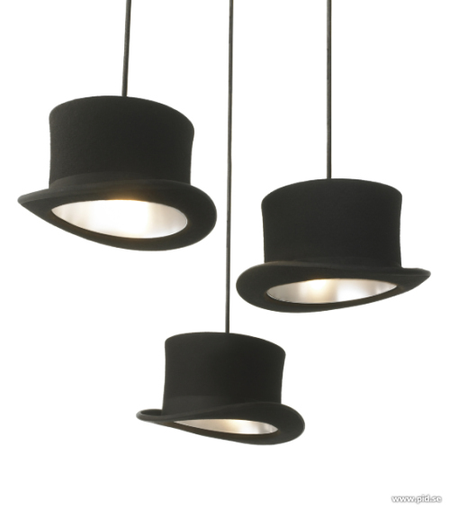 Ceiling Lamps Designed From Real Bowler and Top Hats