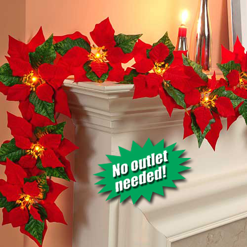 Cordless Christmas Garland