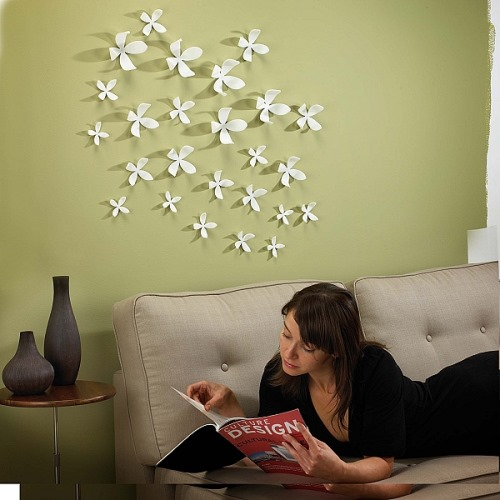 Wall Decor Ideas : Ladies gadgetsmultiple flowers for decorating your wall