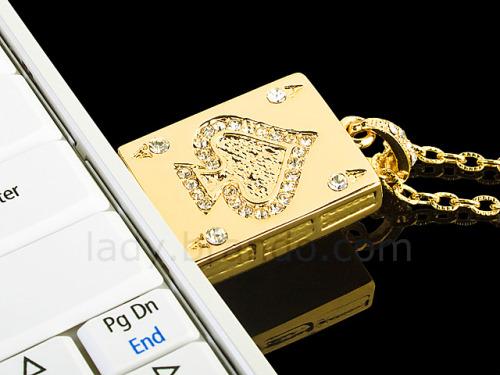 The USB Jewel ACE Necklace Flash Drive