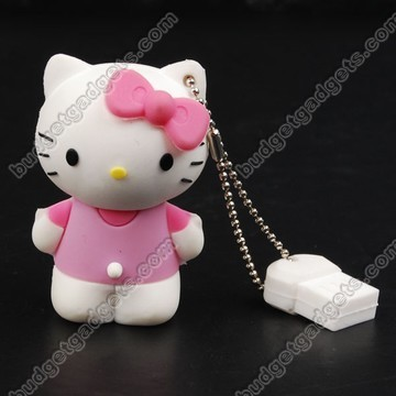 Here comes a super cute Hello Kitty USB flash drive that comes studded with