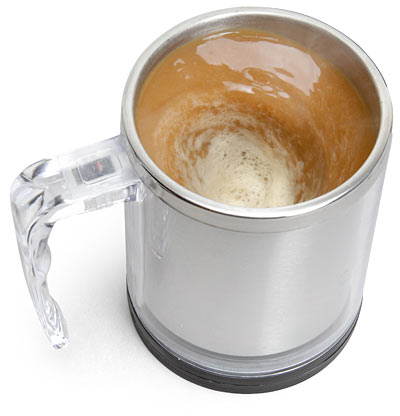 The Self Stirring Mug From ThinkGeek