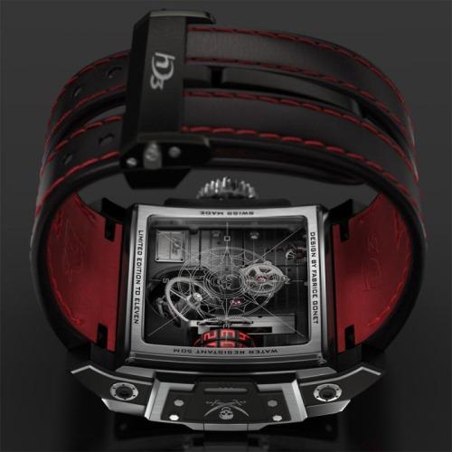 HD3 Complication Black Pearl Wrist Watch