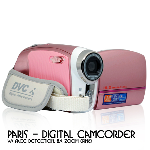 Pink Digital Camcorder Named Paris