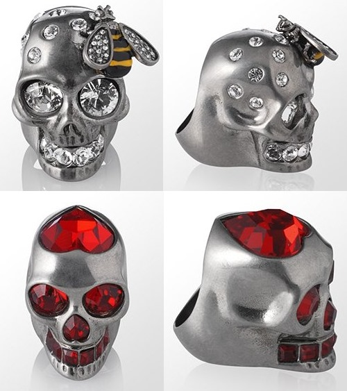 Alexander McQueen Swarovski Skull Rings