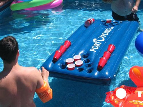 Ladies 39 Gadgetsportopong World 39 S First Inflatable Beer Pong Table Ladies 39 Gadgets