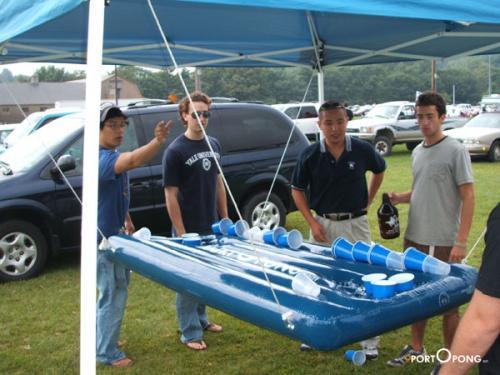 Ladies Gadgetsportopong World S First Inflatable Beer