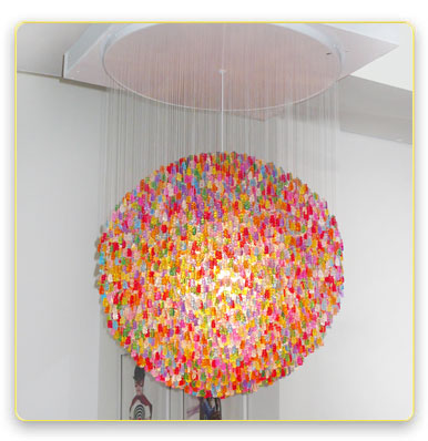 Impressive Chandelier Made From Thousands of Jelly-Like Bears