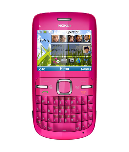 Nokia C3 in Hot Pink