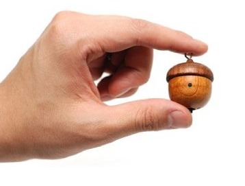 Acorn-Shaped Motz Mini Wood Speaker