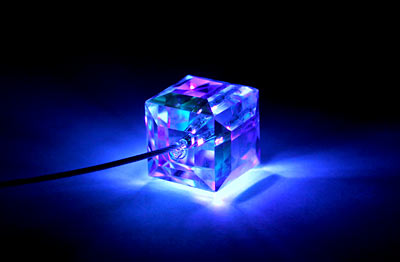 The Crystal Cube Firejewel LED Necklace