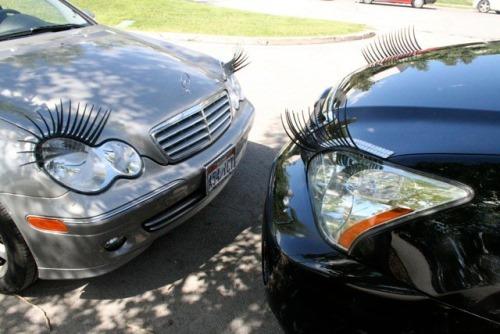 Car Eyelashes: Ladies' GadgetsPersonalize Your Car With Eyelashes And