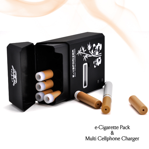 Electronic Cigarette Pack With Built in Universal Cell Phone Charger