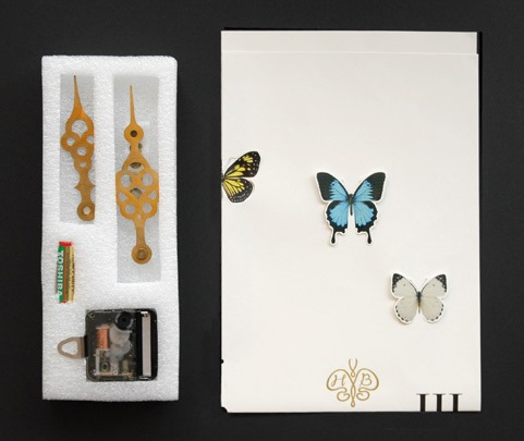 How to Make a Working Paper Clock With Butterflies