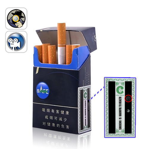 Voice Activated DVR Spy Camera Disguised in a Cigarette Pack
