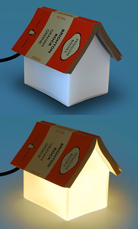 Bedside Table Lamp Doubles as a Book Rest