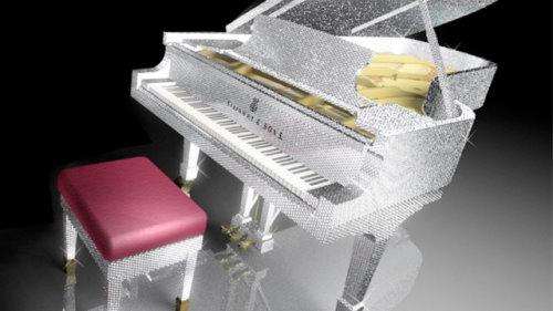 Swarovski Crystal Piano From CrystalRoc