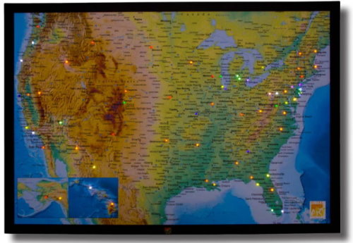 Worlds First Maps With LED Pins