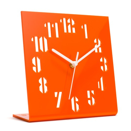 Orange Clock Designed by Anthony Burrill