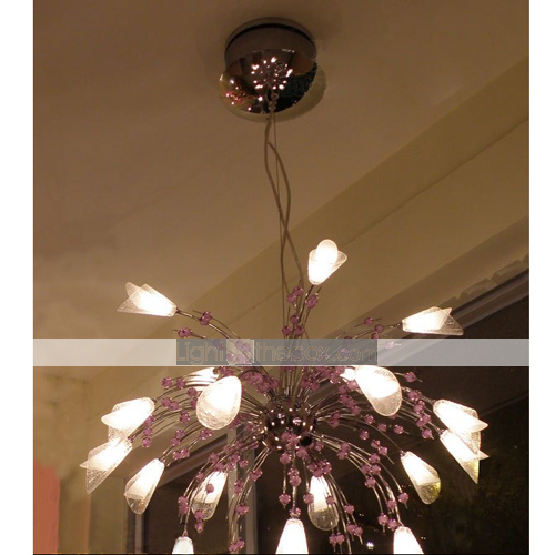 Flower Shaped 20 Light Chandelier