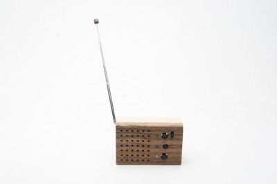 Motz 2 Wireless Radio and Mini Speaker Made From Wood