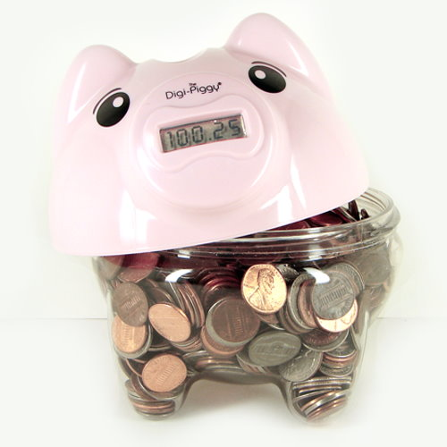 Ladies 39 gadgetscisco digi piggy digital coin counting piggy bank ladies 39 gadgets - Counting piggy bank ...