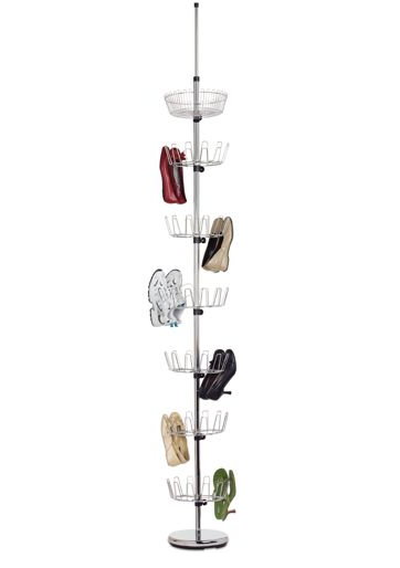 The Vertical Shoe Rack Saves a Lot of Space