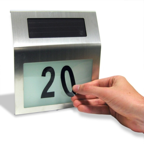 The Solar Powered House Number