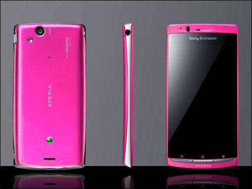 Xperia arc OS-01C Android Phone in Pink at NTT Docomo