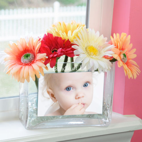 Glass Photo Vase Personalized With a Baby Photo