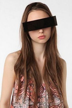 Censorship Black Bar Sunglasses