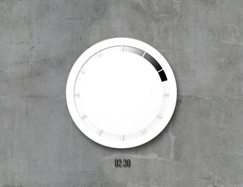 Time Flows Clock Concept