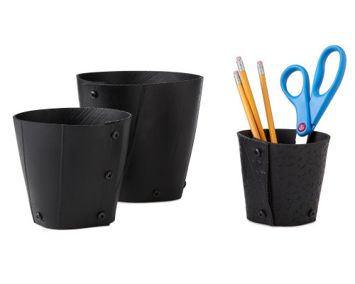 Eco Friendly Desk Tidy Made of Recycled Tires