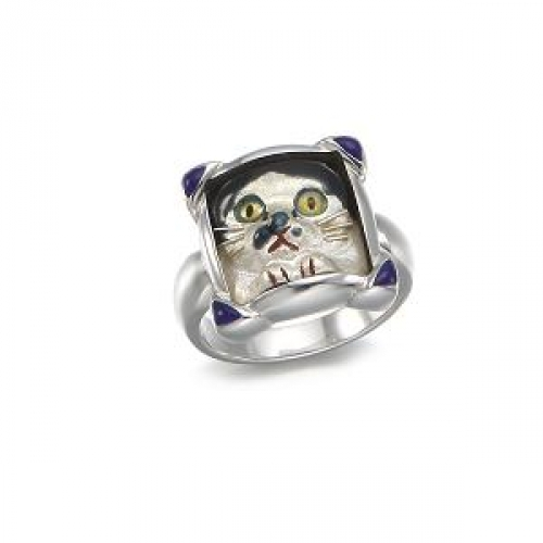 Eenameling Nabi Cat Ring