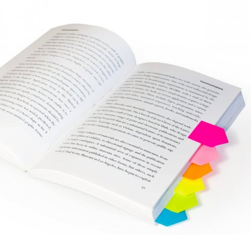 Sticky Page Markers in Cool Colors