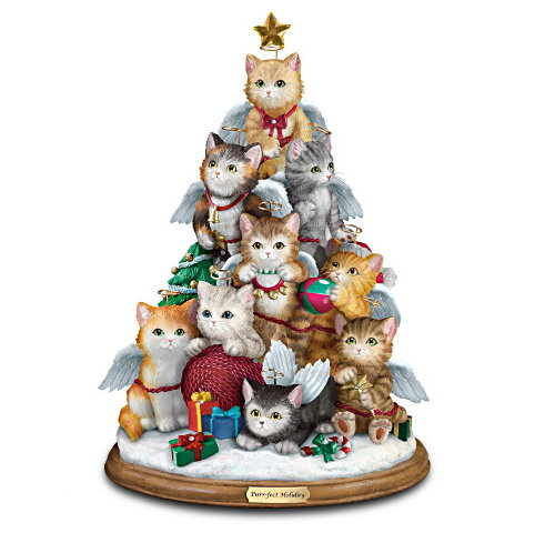 Christmas Tree Filled With Kitties