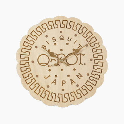 Milk Biscuit Wall Clock by Q Pot