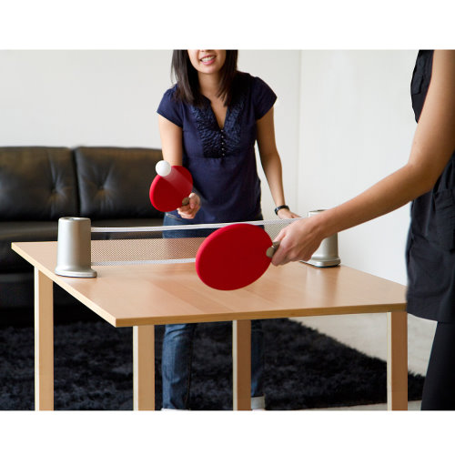 Play Ping Pong Anywhere With the Portable Ping Pong Set