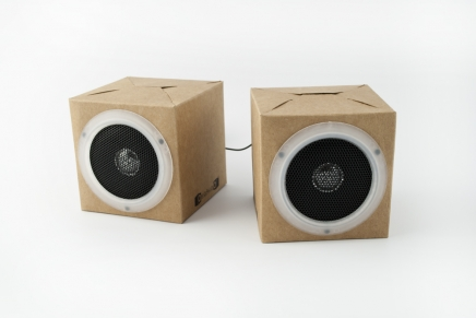 Recycled Cardboard Speakers