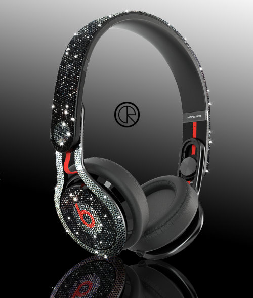 Ladies gadgetsswarovski dr dre beats mixr headphones by crystal