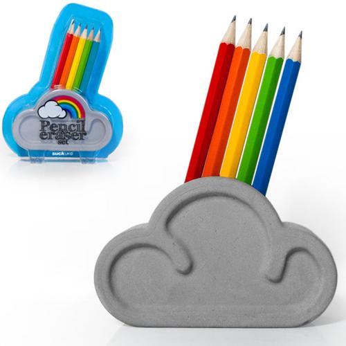 Rainbow Pencil and Eraser Set