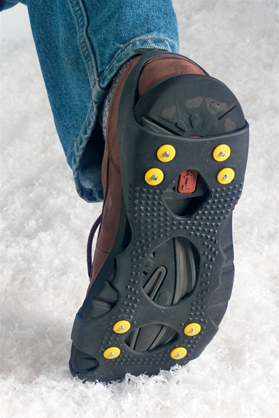 Sole Attachment Prevents Slipping Over Ice
