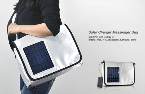 Solar Charging Messenger Bag