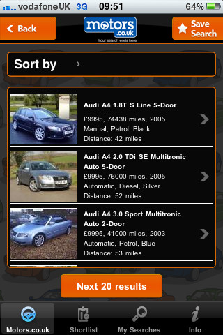 The Motors app makes finding a car easy