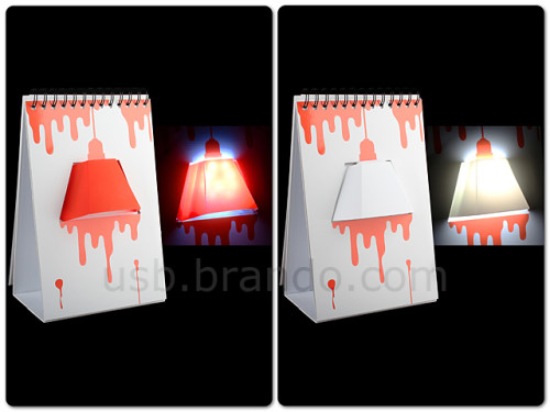 Notebook With Built-in Lamp
